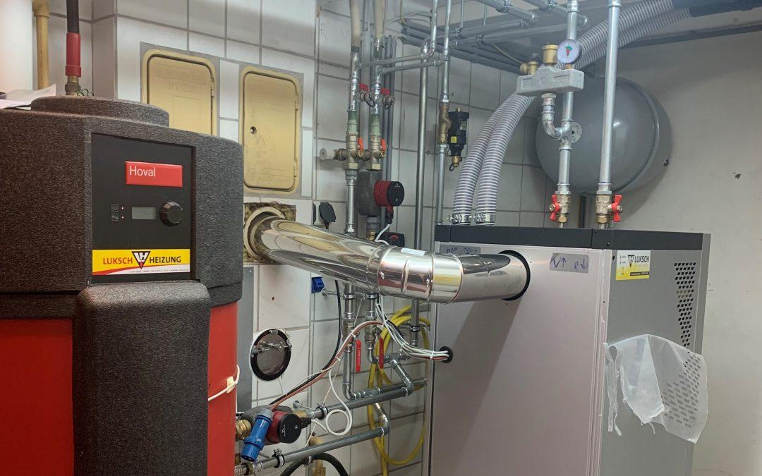 Heizungsumstellung von Öl auf Pellets Anlage, Andorf